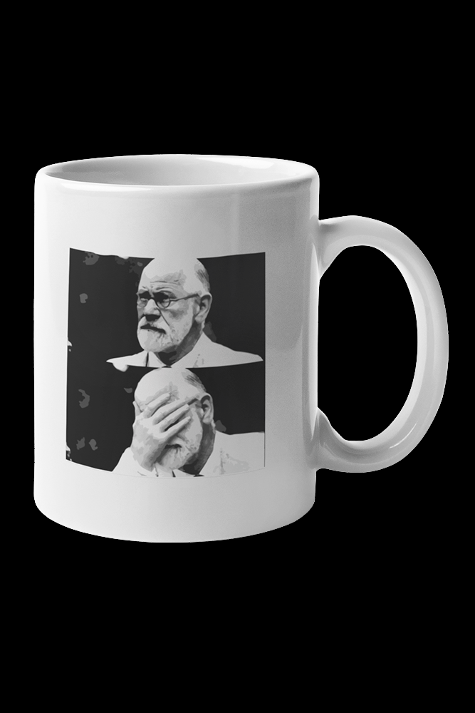 Freud Sublimation White Mug