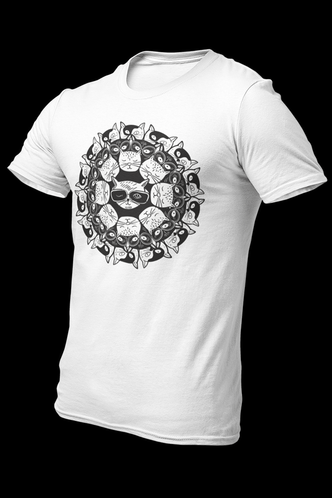 Mandala Cat Sublimation Dryfit Shirt