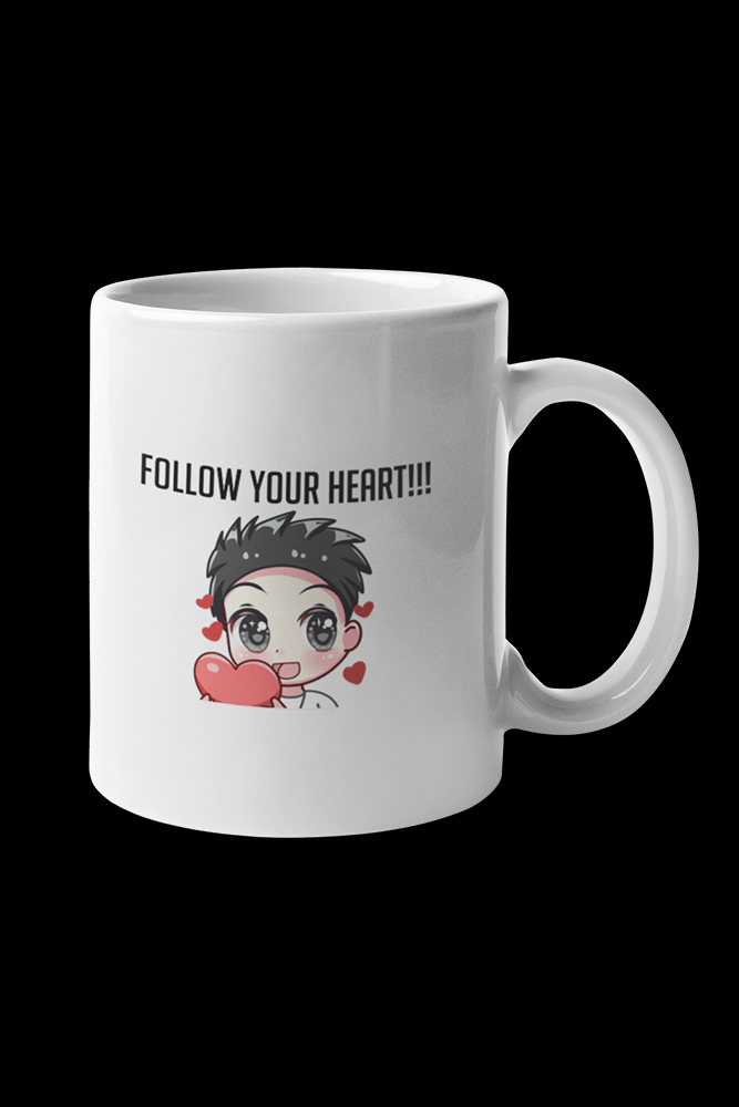 Follow Your Heart  Sublimation White Mug
