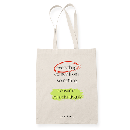 Everything Comes From Something Sublimation Canvass Tote Bag