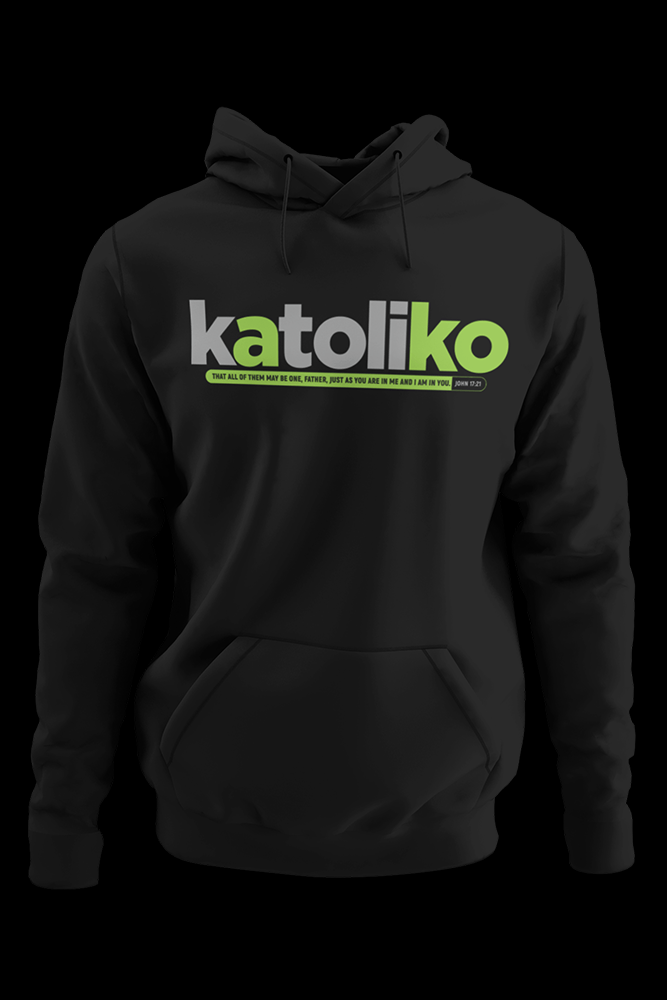 Katoliko Black Hoodie With Logo at the back