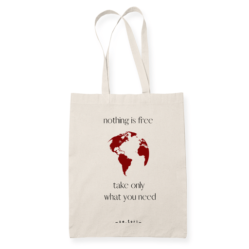 Nothing is Free Sublimation Canvass Tote Bag