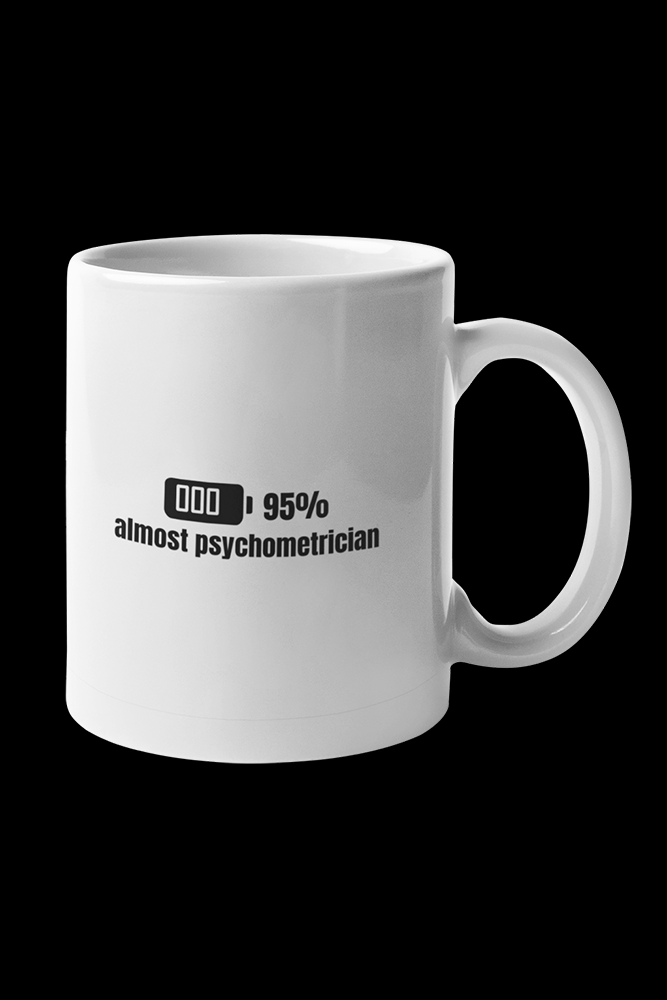 Almost Psychometrician Sublimation White Mug