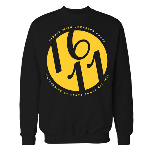 1611 O Black Cotton Sweatshirt