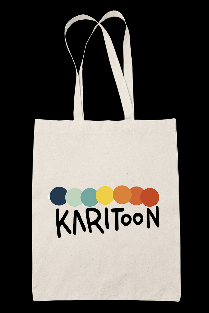 Karitoon Icon Sublimation Canvass Tote Bag