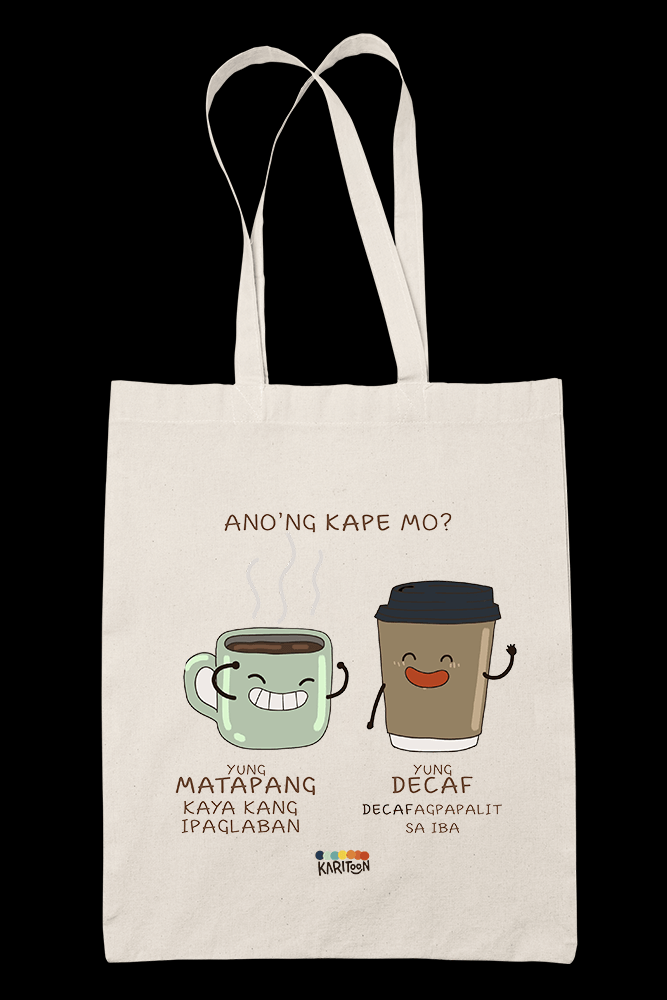 Kape Decafagpapalit Sublimation Canvass Tote Bag