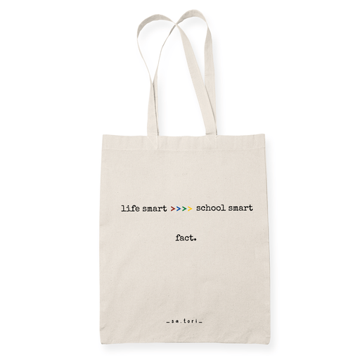 Life Smart Sublimation Canvass Tote Bag