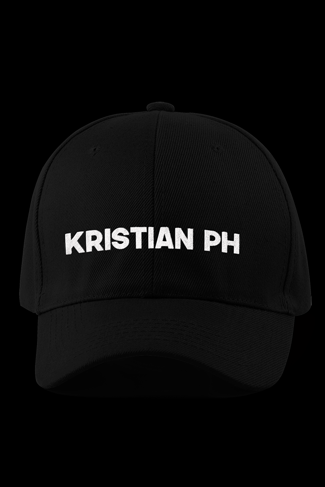Kristian PH Black Embroidered Cap