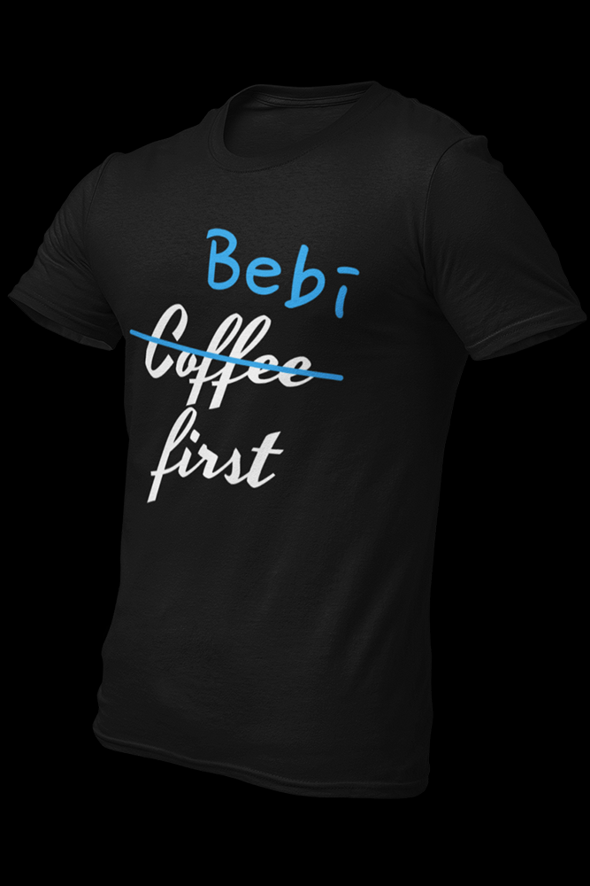 Merch Bebi First Blue White Cotton shirt w/ back logo