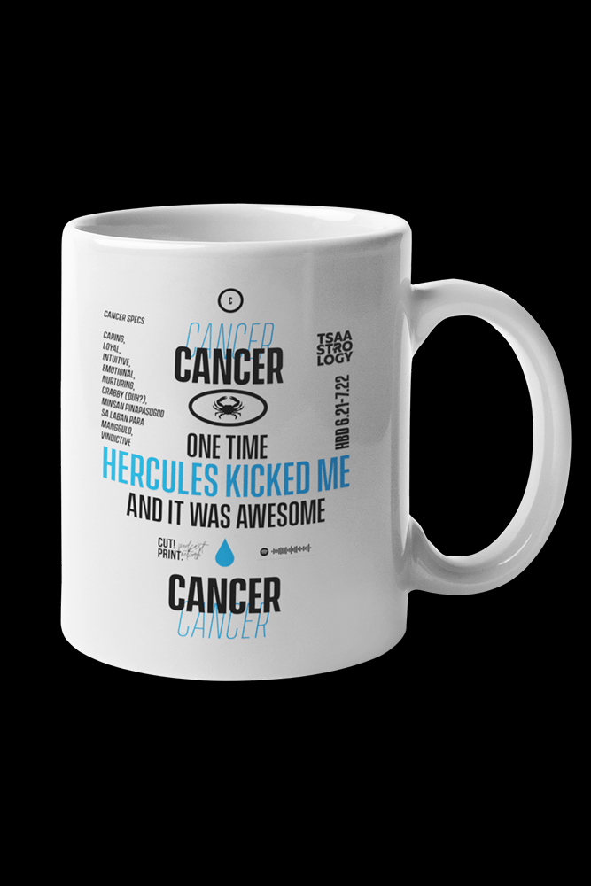 Cancer Sublimation White Mug