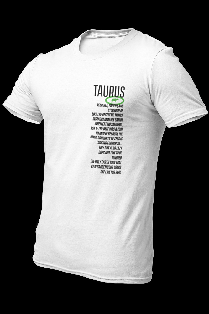 Tsaastrology - TAURUS Sublimation Dryfit Shirt w/Back Print