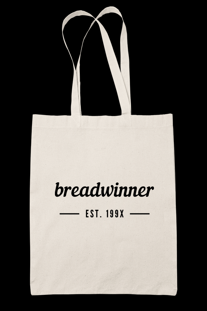 Breadwinner Sublimation Canvass Tote Bag