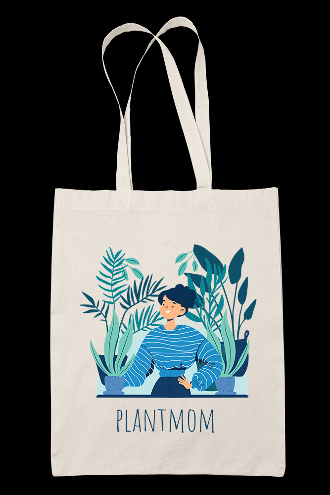 Plantmom Sublimation Canvass Tote Bag