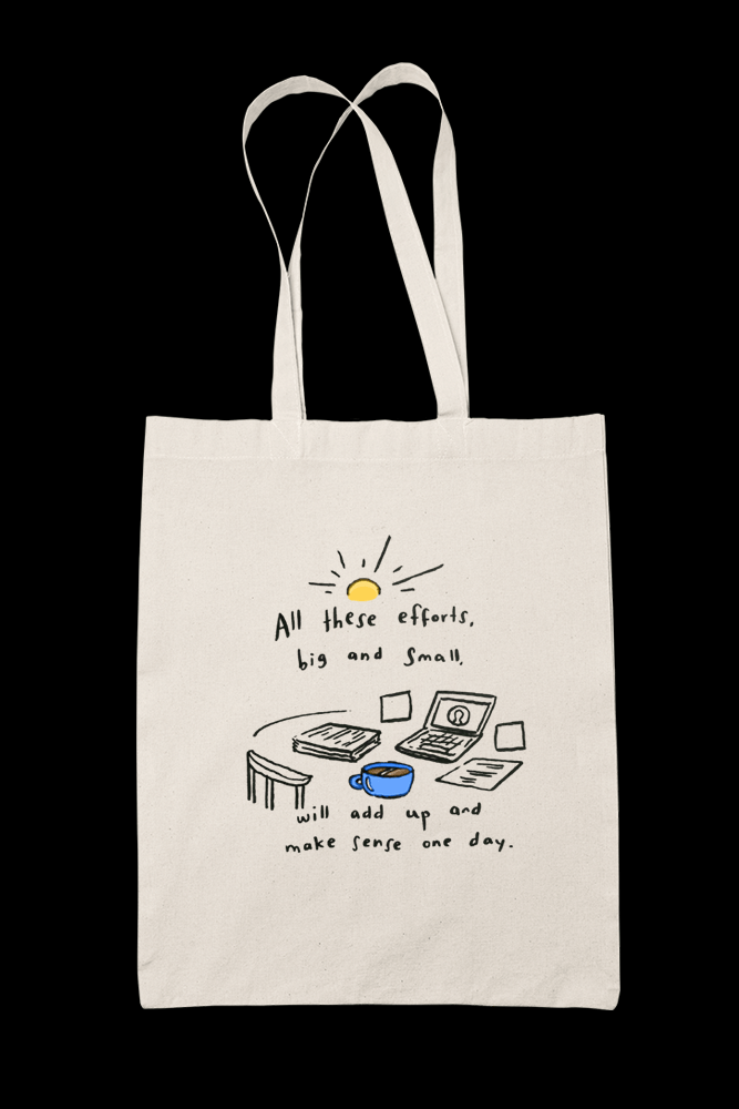 All this efforts Sublimation Canvass Tote Bag