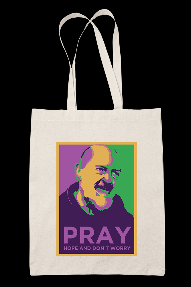 Padre Pio Sublimation Canvass Tote Bag