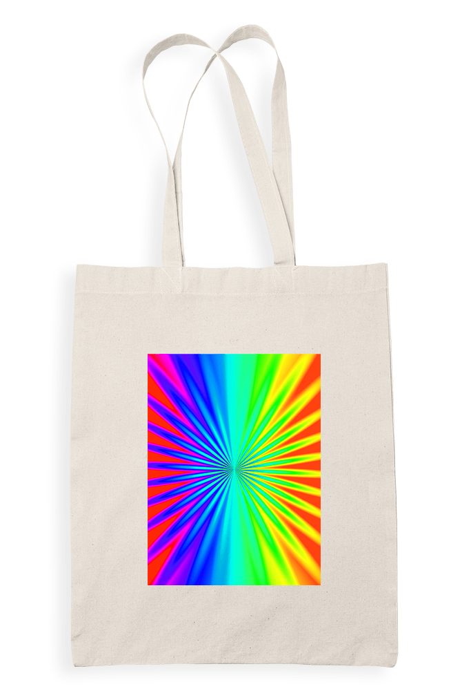 Rainbow Sublimation Canvass Tote Bag