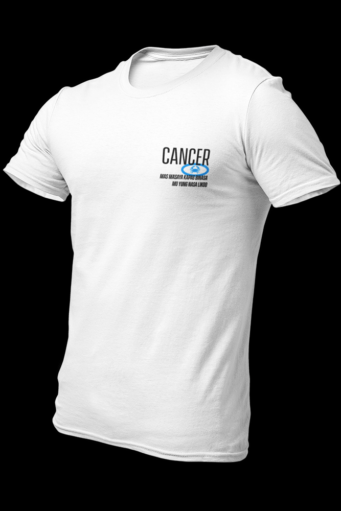 Tsaastrology - CANCER White Cotton Shirt w/back print