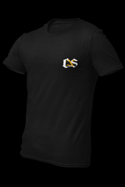 CNS Embroidered Pocket Size Logo Black Cotton Shirt w/ Vinyl Back Print