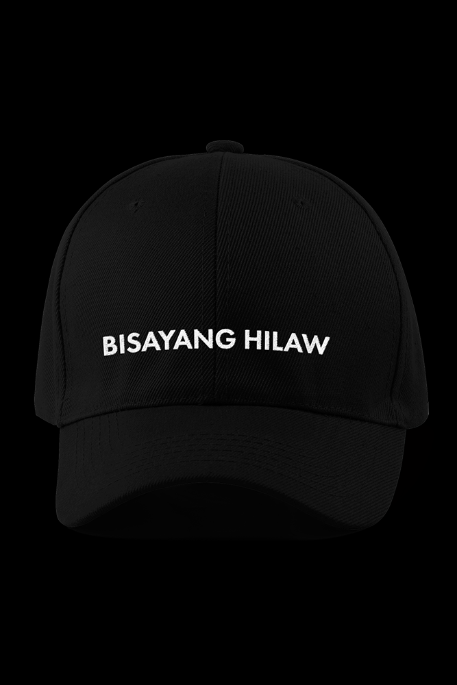 Bisayang Hilaw Black Embroidered Cap