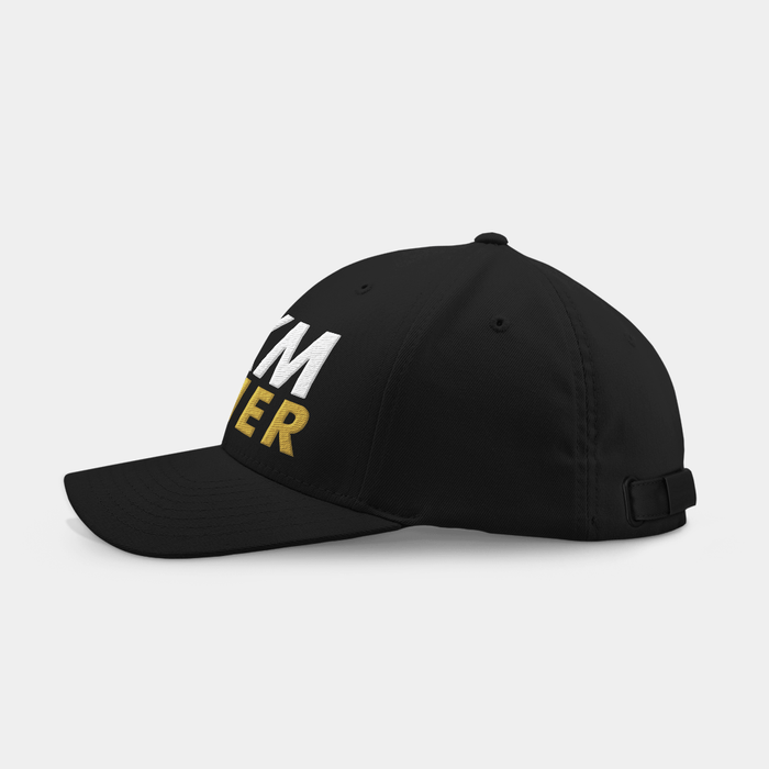 21 KM Black Embroidered Cap