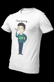 Coffee charging Sublimation Dryfit Shirt With Logo At The Back