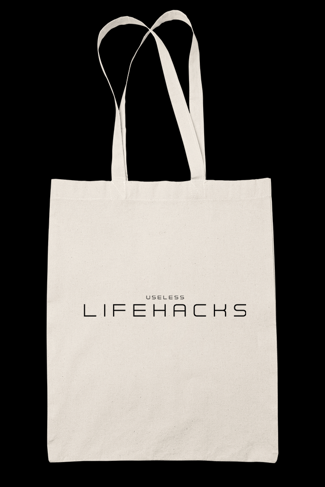 Lifehacks Sublimation Canvass Tote Bag