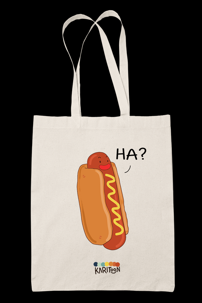Hatdog Sublimation Canvass Tote Bag