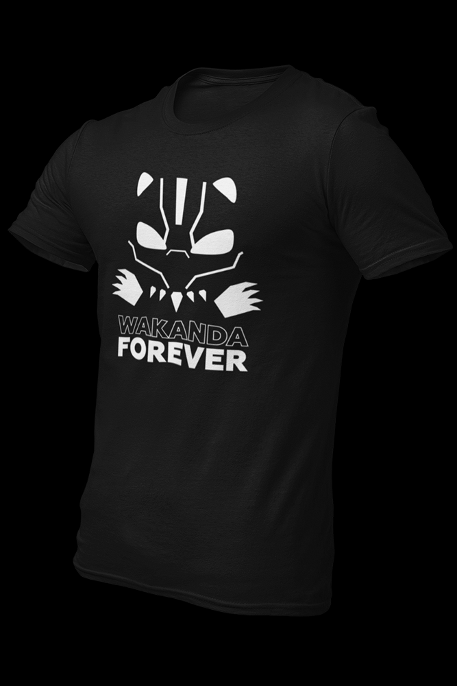 Wakanda Forever Cotton Shirt With Logo At The Back