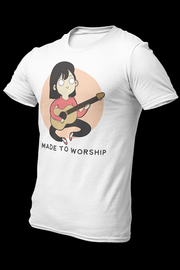 Worship girl Sublimation Dryfit Shirt With Logo At The Back