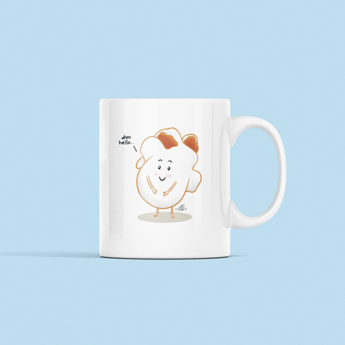 Popcorn Sublimation White Mug