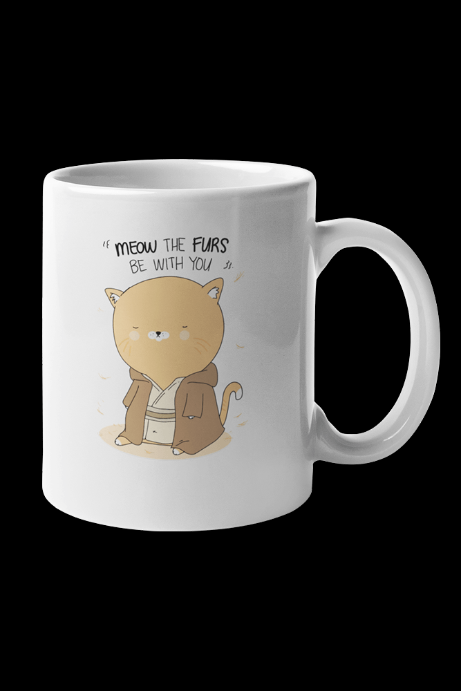 Meow be with you Sublimation White Mug