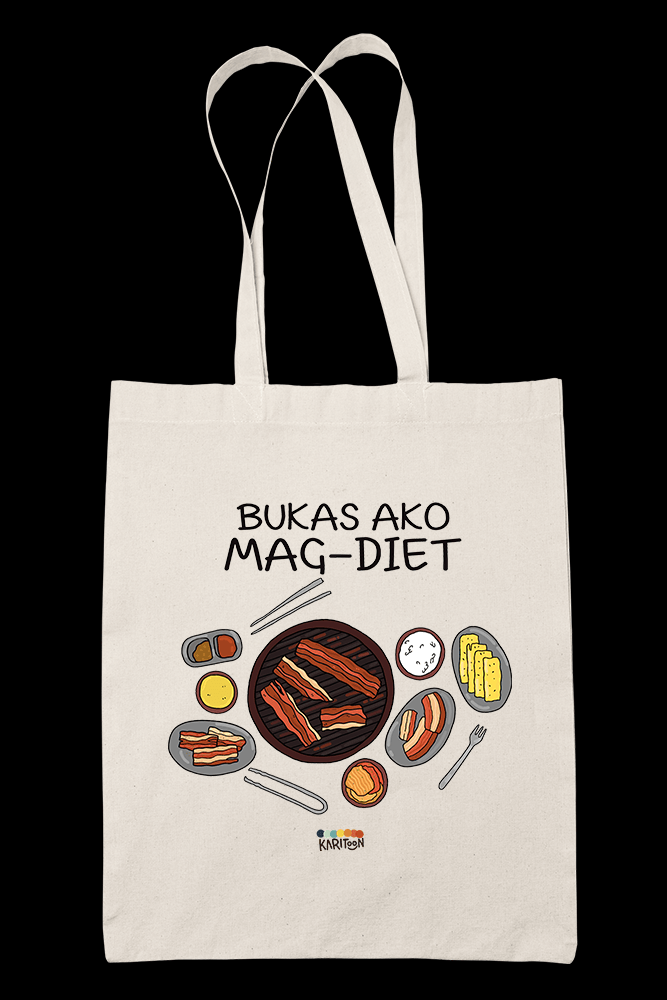 Bukas Ako Magdiet Sublimation Canvass Tote Bag