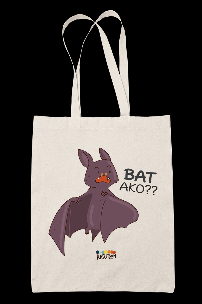 Bat Ako Sublimation Canvass Tote Bag