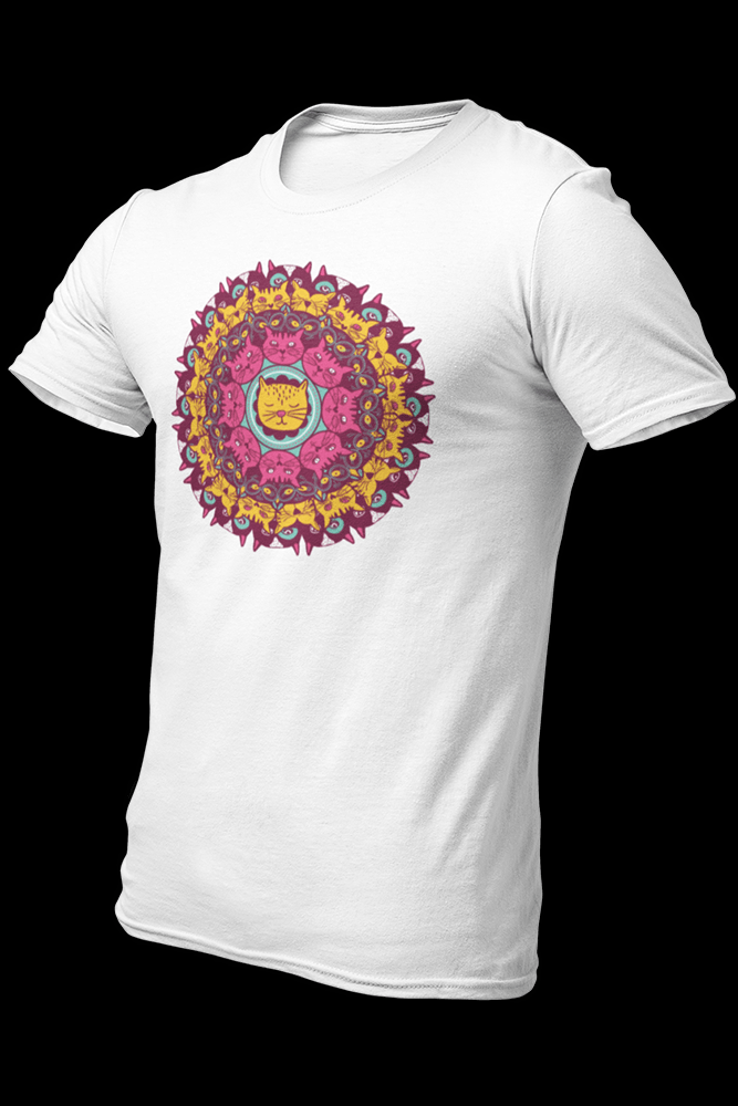 Cat Mandala Colored Sublimation Dryfit Shirt