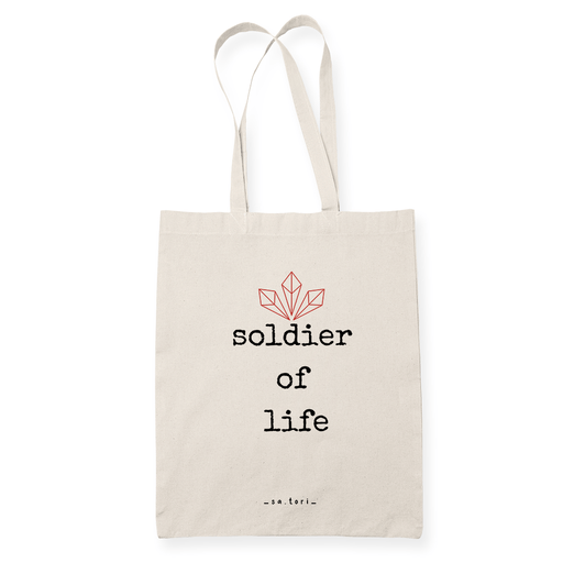 Soldier of life Sublimation Canvass Tote Bag