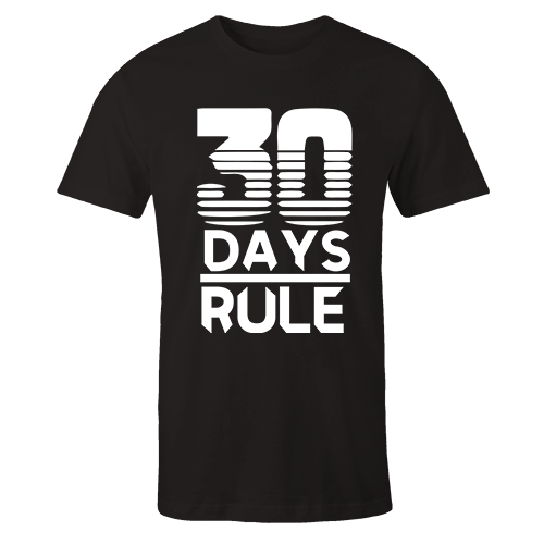 30 days Black Cotton Shirt