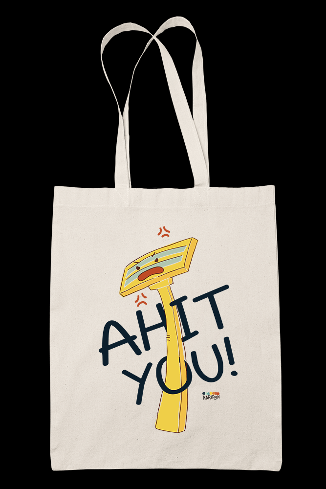 Ahit You Sublimation Canvass Tote Bag