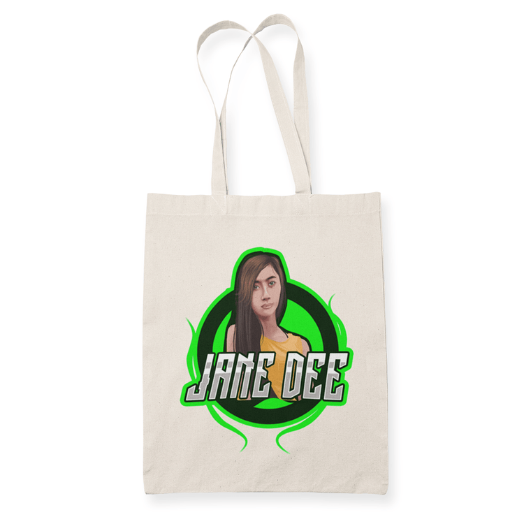 Jane Dee Sublimation Canvass Tote Bag