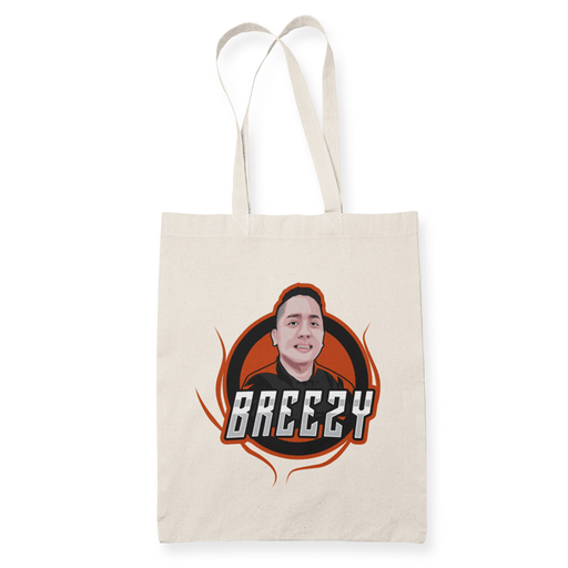 Breezy Sublimation Canvass Tote Bag