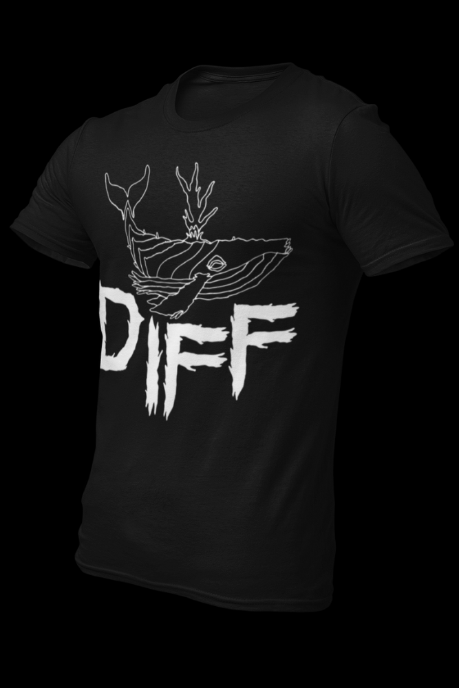 Diff Whale Logo Black Cotton Shirt