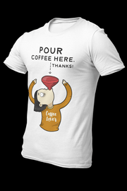 Pour Coffee Dryfit Shirt With Logo At The Back