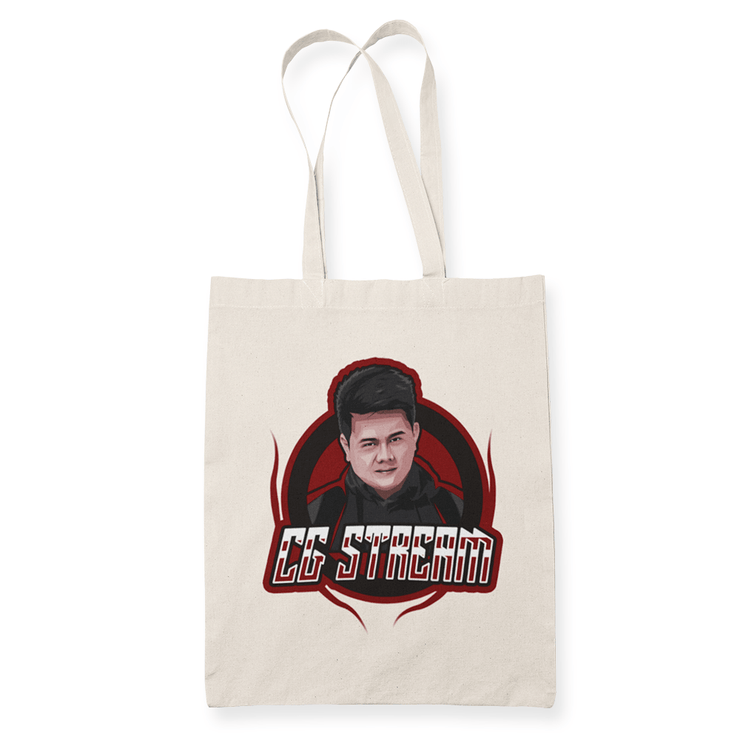 CG Stream Sublimation Canvass Tote Bag