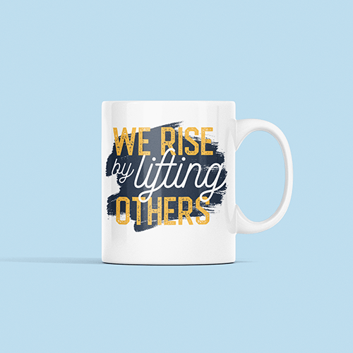 We Rise Sublimation White Mug