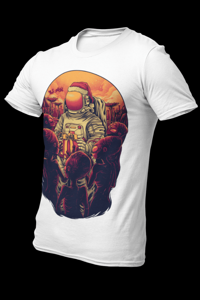 Astro Santa Sublimation White Dryfit Shirt