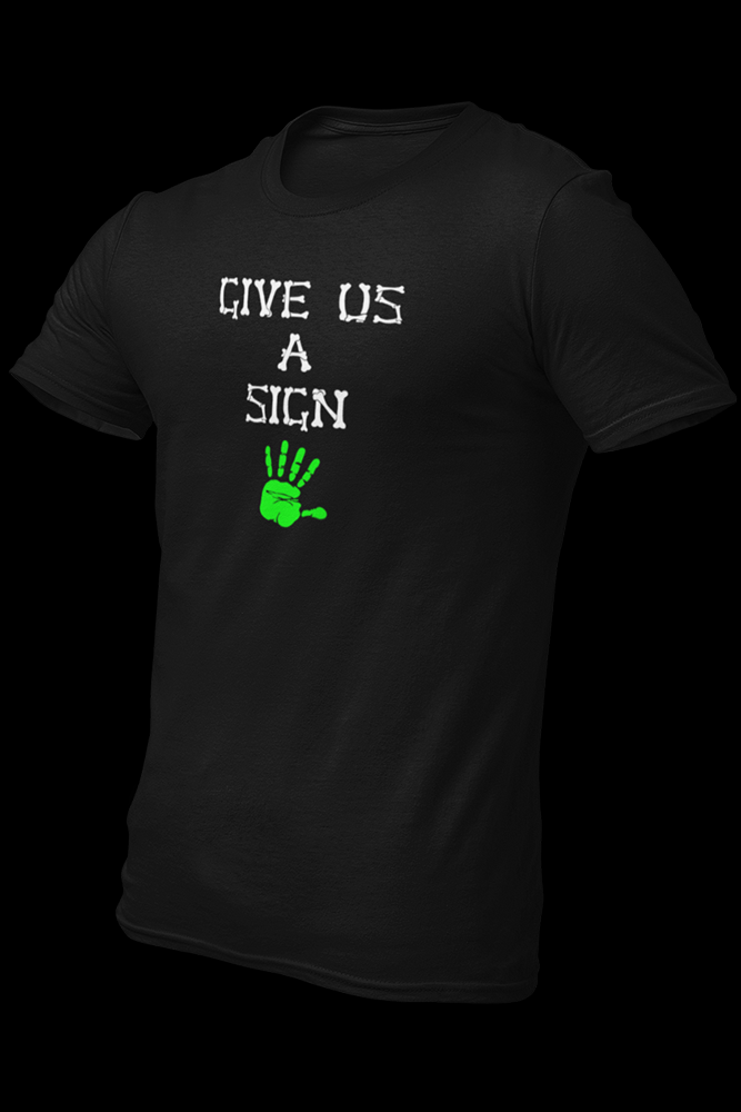 Give us a Sign Black Cotton Shirt
