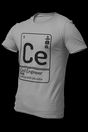 Civil engineer Cotton Shirt With Logo At The Back