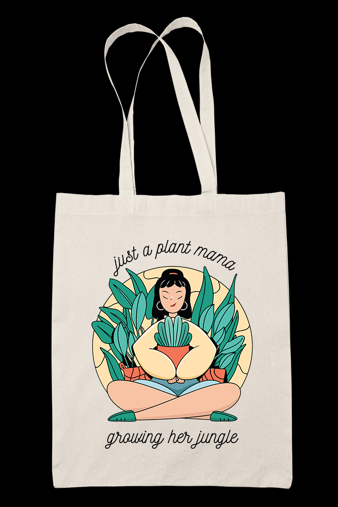 Plant mama growing Sublimation Canvass Tote Bag