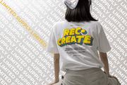 "Rec•Create ""Looney"" White Cotton Shirt"