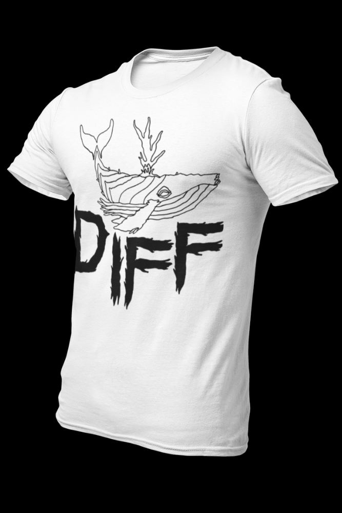 Diff Whale Logo White Cotton Shirt