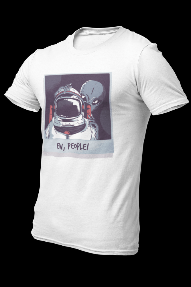 Alien Ew People Sublimation White Dryfit Shirt